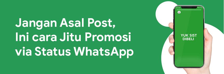 cara promosi via status whatsapp