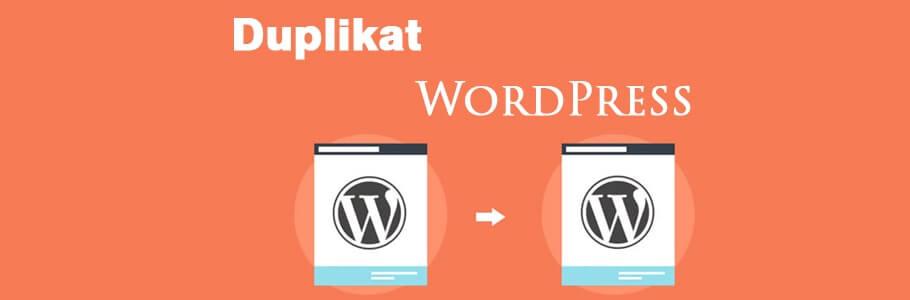 cara duplikat website wordpress