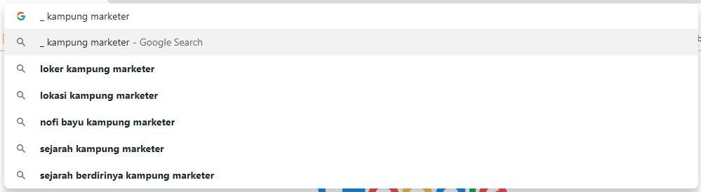 google suggest kampung marketer