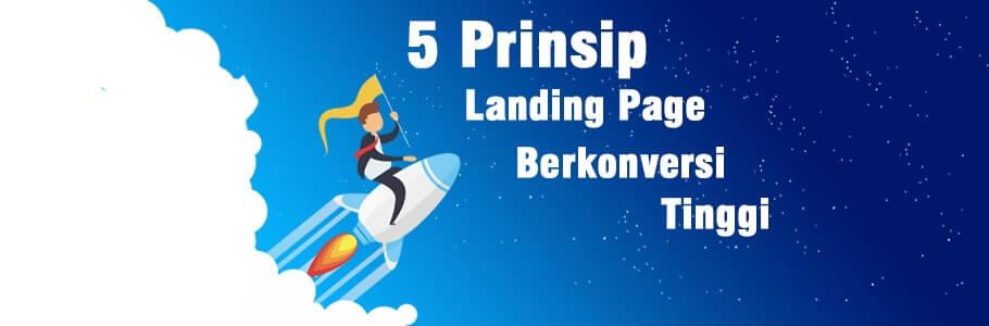 prinsip landing page